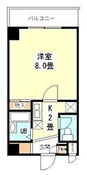 大阪府松原市新堂4丁目の賃貸マンションの間取り