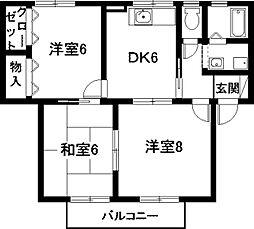 クラージュ[2階]の間取り