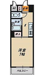 コーポカースル[2階]の間取り