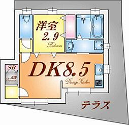 ざ・してぃ東須磨V[1階]の間取り