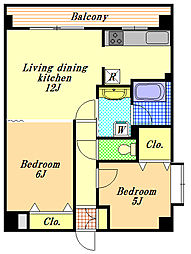 SATOMI‐5番館[4階]の間取り