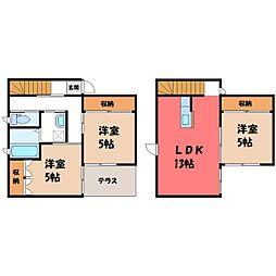 [一戸建] 栃木県栃木市大森町 の賃貸【/】の間取り