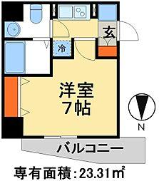 JR常磐線 松戸駅 徒歩3分の賃貸マンション 11階1Kの間取り