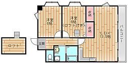 ローズライフ住之江[8階]の間取り