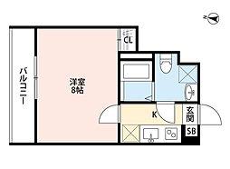 埼玉県さいたま市見沼区大和田町2丁目の賃貸アパートの間取り