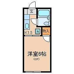 神奈川県横浜市南区西中町4丁目の賃貸アパートの間取り