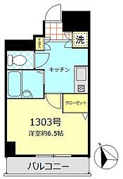 シンシア蒲田ステーションプラザ[13階]の間取り