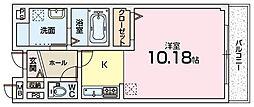 大阪府枚方市津田西町2丁目の賃貸マンションの間取り