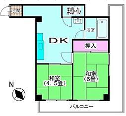 第二京浜ビル[304号室]の間取り