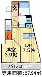 JR外房線 蘇我駅 徒歩3分の賃貸マンション 1階1DKの間取り
