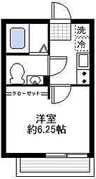 カーサ蒔田[201号室]の間取り