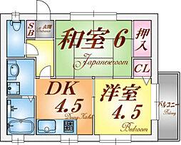 マリンコート須磨海浜[1階]の間取り