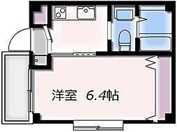 シーサイドストーリー新浦安 2階1Kの間取り