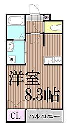 東京都大田区萩中1丁目の賃貸マンションの間取り