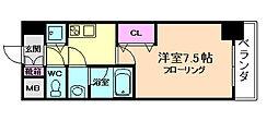 大阪府大阪市北区中津3丁目の賃貸マンションの間取り