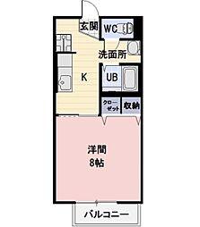長野県上田市常入の賃貸アパートの間取り
