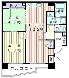 神奈川県横浜市港南区上大岡東2丁目の賃貸マンションの間取り