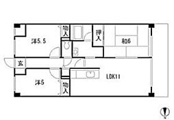 TKマンション[2階]の間取り