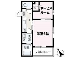 (s)Best Stage鶴瀬I 2階1SKの間取り
