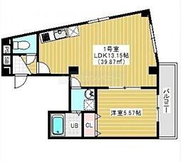 JR総武線 千葉駅 徒歩15分の賃貸マンション 3階1LDKの間取り