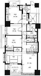 コアマンション博多駅南[1301号室]の間取り