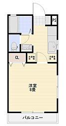JR両毛線 前橋駅 バス23分 六供天神公園下車 徒歩3分の賃貸アパート 1階1Kの間取り