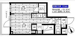 ステージファースト経堂アジールコート 3階1DKの間取り