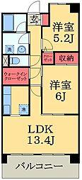 千葉県千葉市緑区あすみが丘東2丁目の賃貸マンションの間取り