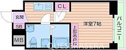 大阪府大阪市中央区南久宝寺町3丁目の賃貸マンションの間取り