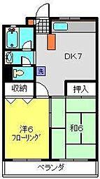 本村コーポ[2階]の間取り