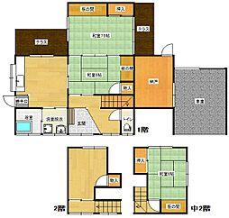 [一戸建] 福岡県福岡市南区若久3丁目 の賃貸【/】の間取り