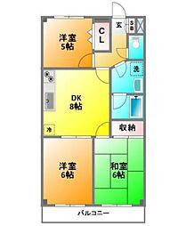 ビアーレ東小金井[2階]の間取り
