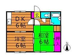 サンクオーレ平田[1階]の間取り