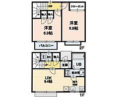 長野県佐久市中込三石の賃貸アパートの間取り