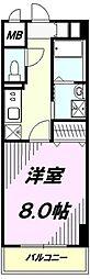 東京都八王子市大和田町7の賃貸マンションの間取り