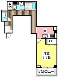 大阪モノレール 沢良宜駅 徒歩8分の賃貸マンション 2階1Kの間取り