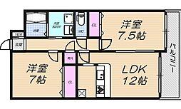 YKセンチュリー[2階]の間取り