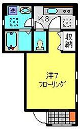 アクシス西神奈川[101号室]の間取り