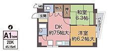 増田中桜塚マンション[301号室]の間取り