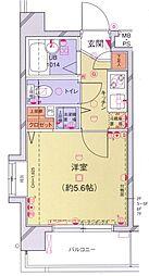 菱和パレス飯田橋駅前 3階1Kの間取り