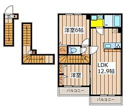Classy Residence 3階2LDKの間取り