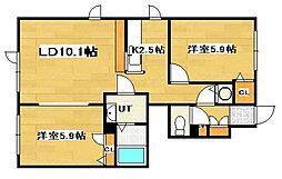 シャーメゾンモンルージュ[1階]の間取り