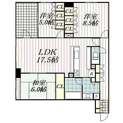 千葉県千葉市中央区登戸4丁目の賃貸マンションの間取り