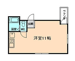 サンフラットII[5階]の間取り