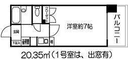 ドミール北新宿[708号室]の間取り