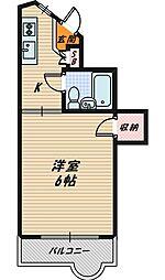 大阪府大阪市城東区蒲生2丁目の賃貸マンションの間取り