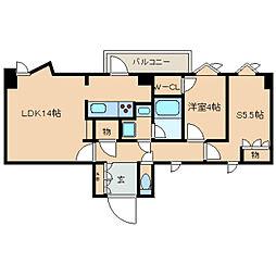 東京メトロ有楽町線 護国寺駅 徒歩2分の賃貸マンション 2階2LDKの間取り