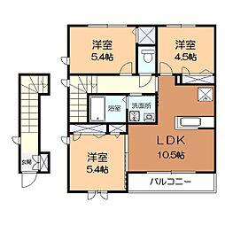 フォレストハウス鎌倉[2階]の間取り
