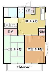メゾンソレイユI[1階]の間取り