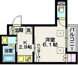 仮称 西蒲田5丁目メゾン 3階1Kの間取り